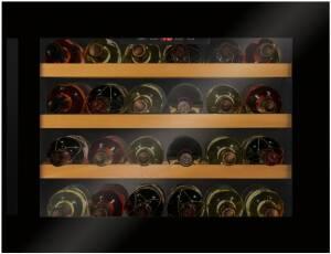 Amica WK 341 200 S63 L 45,5 cm Ventilator LED-Beleuchtung Tür-Offen-Alarm Böden Buche