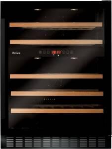 Amica WK 341 110-1 SX-Type Design Nutzinhalt 125 L 45 Flaschen 5 Buche Holzablageböden