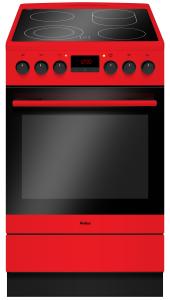 Amica SHC 11504 RStandherd rot 50 cm Heißluft Glaskeramik