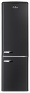 Amica KGCR 387 100 MS181 cm Höhe RetroDesign schwarz Kühlen 181 L Gefrieren 63 L