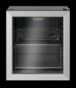 Bomann KSG 7282 schwarz Glastür-Kühlschrank