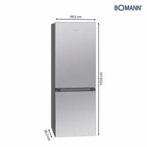 Bomann KG 320.2 ix-look Kühl-/Gefrierkombination