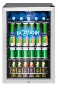 Bomann KSG 7284.1 schwarz Glastür-Kühlschrank