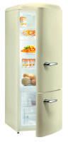 Gorenje RK 60319 OC A++, H 170B 60 cm, champagne creme, TA rechts, Umluft-Kühlsystem