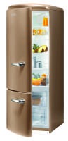 Gorenje RK 60319 OCO-L A++, H 170 B 60 cm, royal coffee, TA links, Umluft-Kühlsystem