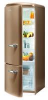 Gorenje RK 60319 OCO-L A++, H 170B 60 cm, royal coffee, TA links, Umluft-Kühlsystem