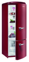 Gorenje RK 60319 ORA++, H 170B 60 cm, vulcano red, TA rechts, Umluft-Kühlsystem