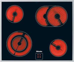Miele KM 6023 Edelstahl Rahmen Glaskeramik Herdgebunden