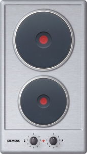 Siemens ET 13051 Massekochplatten-Sc haltermulde Domino 2 Blitz-Kochplatten
