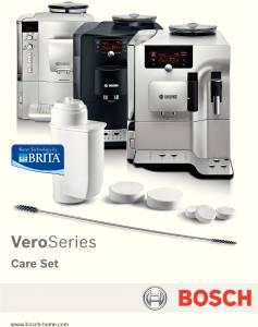 Bosch TCZ 8004Pflegeset für Kaffeevollautomaten der Bosch VeroBaureihe extraklasse