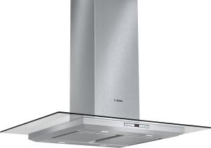 Bosch DIA 098 U 50Inselesse, 90 cm Edelstahl mit Glasschirm