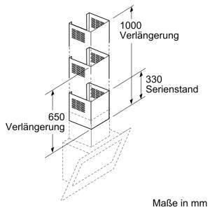 Bosch DHZ 1232Kaminverlängerung 1000 mm