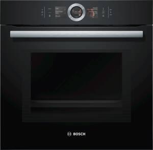 Bosch HNG 6764 B 6 Backofen mit Mikrowelle und Dampfstoss-Funktion Home Connect schwarz
