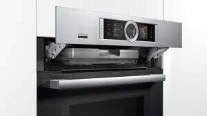 Bosch HNG 6764 S 6 Backofen mit Mikrowelle und Dampfstoss-Funktion Edelstahl Home Connect Edelstahl