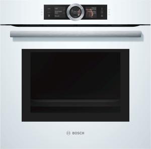 Bosch HNG 6764 W 6Backofen mit Mikrowelle und Dampfstoss-Funktion Home Connect polarweiß
