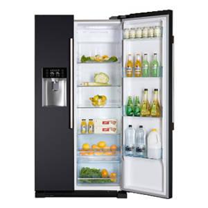 Haier HRF 628 IN6A+ NoFrost anthrazit Wasserspender IceCrusher No Frost Festwasseranschluss