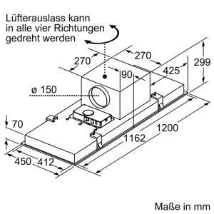 Neff IDC 9267 N (I92C67N1) Einbau-Dunstabzugshaube