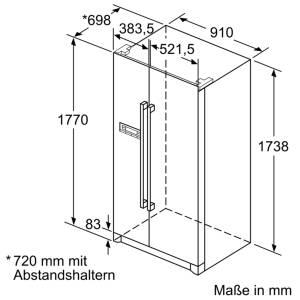 Neff KSA 778 A2 (KA7902I30) A++ Side-by-Side NoFrost