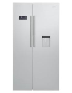 Beko GN 163221 S Side-by-Side Kombination NoFrost 0øC-Zone Wasserspender A+ Silber