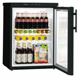 Liebherr FKUv 1613-22 744 swGewerbe Flaschen-Kühlschrank Glastür schwarz LED