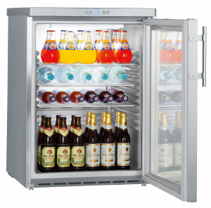 Liebherr FKUv 1663-22Gewerbe Flaschen-Kühlschrank Edelstahl Glastür LED