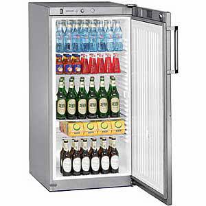 Liebherr FKvsl 2610-21 Premium Gewerbe Flaschen-Kühlschrank singalgrau