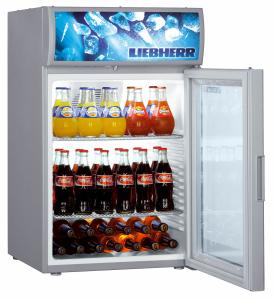 Liebherr BCDv 1003-20 Kühlschrank m.Umluftkühlung Glastür silver Displayfeld LED Gewerbe