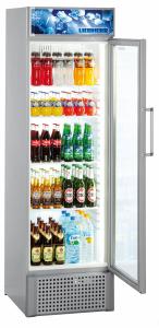 Liebherr FKDv 3713-21 Gewerbe Premium Display-Kühlgerät m.Umluft Glastür signalgrau