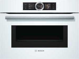 Bosch CMG676BW1 Kompaktbackofen mit Mikrowelle Ploar Weiß