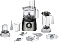 Siemens MK 3501 M Kompakt-Küchenmaschi ne schwarz / Edelstahl