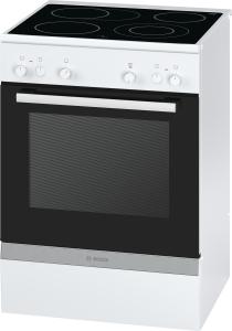 Bosch HCA 722220 EEK: A Glaskeramik-Kochfeld Heißluft 60 cm weiß
