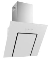 Termikel KÖLN 60 W Vertikale Glas-Wandhaube, 60 cm breit, weißes Glas