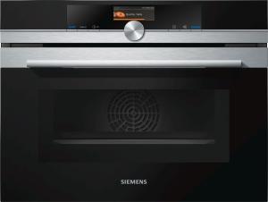 Siemens CM 676 G 0 S 1 Kompaktbackofen mit Mikrowelle Pyrolyse TFT-Touchdisplay