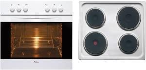 Amica EHE 12504 W Herd-Set weiß EEK: A Kochplatten