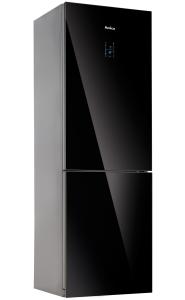 Amica KGC 15533 SG A++Glasfront Schwarz