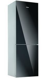 Amica KGC 15531 SG A++ Glasfront Schwarz 185 cm AntiBacteria