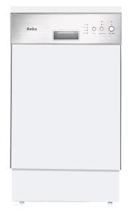 Amica EGSP 14095 E A+45 cm Einbau-Geschirrspüler, integriert, Edelstahlblende