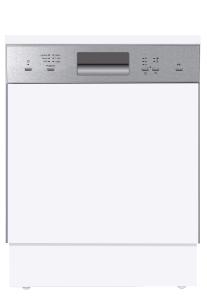 Amica EGSP 14381 E A+ 60 cm Einbau-Geschirrspüler, integriert. Edelstahlblende