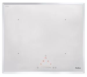 Amica KMI 13310 WInduktionskochfel d, 60 cm, Facette, Autark, Sensortasten, weiß