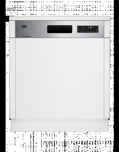 Beko DSN 6634 FX 1A++ integrierbar Watersafe+ Edelstahlblende