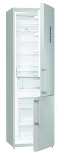 Gorenje NRK 6202 MX A++, B 60 cm, H 200 cm NoFrost, Elektr. i.d.Tür, Edelstahl-Türen mit AFP-Beschichtung