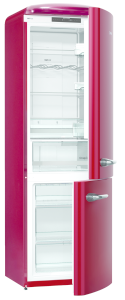 Gorenje ONRK 193 R A+++ B 60 cm, NoFrost, Ion Air Multiflow, ZeroZone, TA rechts, burgundy