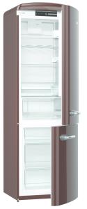 Gorenje ORK 193 CH A+++, B 60 cm, IonAir Dynamic Cooling, FreshZone, TA rechts,dark chocolate