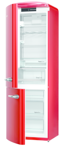 Gorenje ORK 193 RD-L A+++, B 60 cm, IonAir Dynamic Cooling, FreshZone, TA links, fire red
