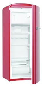 Gorenje ORB 153 R A+++, B 60 cm , 4* Gefrierfach, IonAir Dynamic Cooling, FreshZone, TA rechts, burgundy