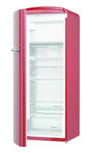 Gorenje ORB 153 R-L A+++, B 60 cm , 4* Gefrierfach, IonAir Dynamic Cooling, FreshZone, TA links, burgundy