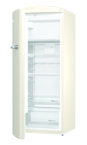 Gorenje ORB 153 C-L A+++, B 60 cm , 4* Gefrierfach, IonAir Dynamic Cooling, FreshZone, TA links, champagne