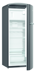 Gorenje ORB 153 BK A+++, B 60 cm , 4* Gefrierfach, IonAir Dynamic Cooling, FreshZone, TA rechts, black