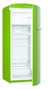 Gorenje ORB 153 GR A+++, B 60 cm , 4* Gefrierfach, IonAir Dynamic Cooling, FreshZone, TA rechts, green lime