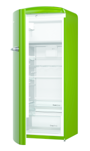 Gorenje ORB 153 GR-L A+++ IonAir Dynamic Cooling, FreshZone TA links green lime